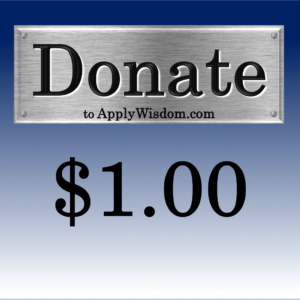 Donate $1 to Apply Wisdom.com