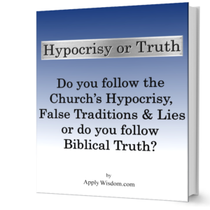 Hypocrisy or Truth Book Image from Apply Wisdom.com