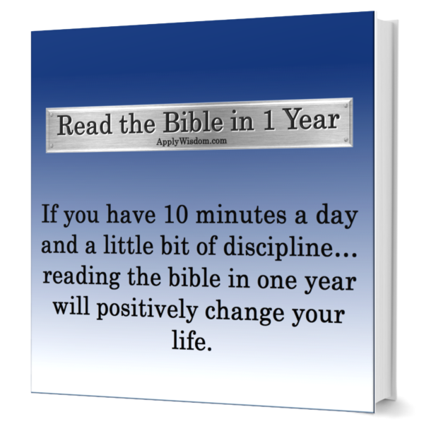 Read the Bible in 1 Year 2 page Checklist from Apply Wisdom.com
